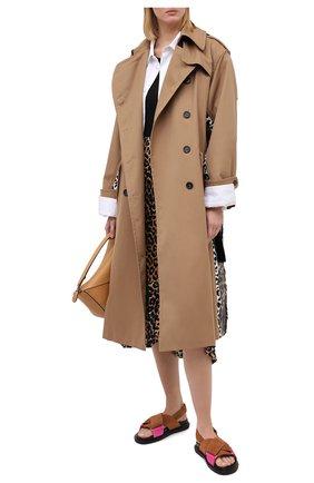 Женские кожаные сандалии fussbett MARNI коричневого цвета, арт. FBMS005201/P3580 | Фото 2