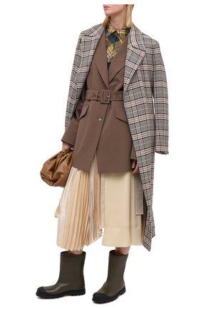 Женские кожаные сапоги MARNI хаки цвета, арт. TCMS005404/P3387   Фото 2