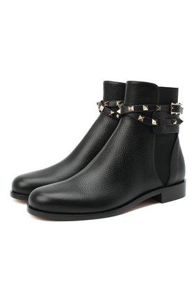 Кожаные ботинки Valentino Garavani Rockstud | Фото №1