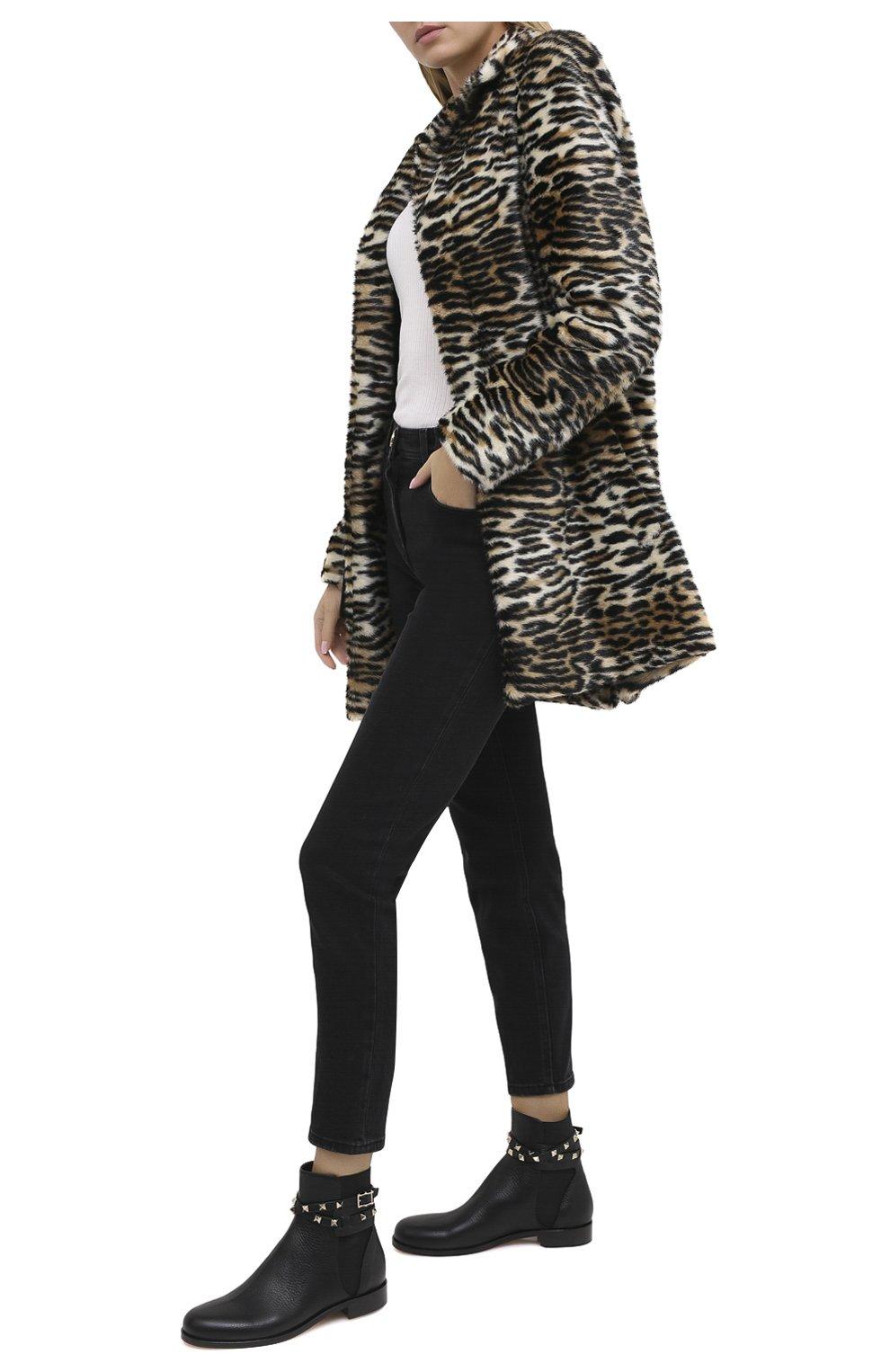 Женские кожаные ботинки valentino garavani rockstud VALENTINO черного цвета, арт. UW2S0P64/VCE | Фото 2