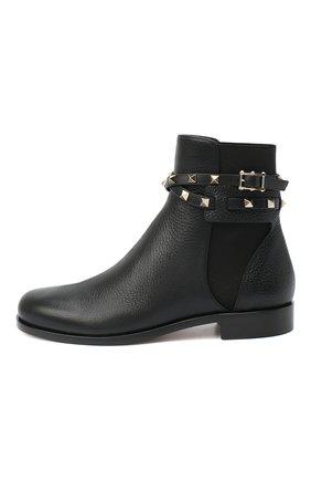 Женские кожаные ботинки valentino garavani rockstud VALENTINO черного цвета, арт. UW2S0P64/VCE | Фото 3