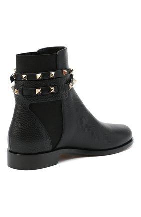 Женские кожаные ботинки valentino garavani rockstud VALENTINO черного цвета, арт. UW2S0P64/VCE | Фото 4