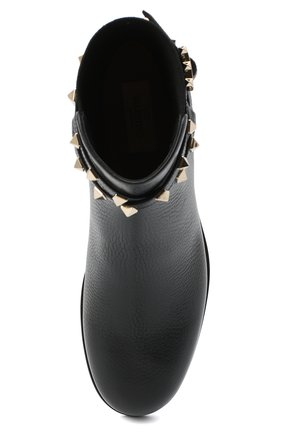 Женские кожаные ботинки valentino garavani rockstud VALENTINO черного цвета, арт. UW2S0P64/VCE | Фото 5