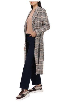 Женские кожаные кроссовки SANTONI бордового цвета, арт. WBKI60613AVNPLRAB60   Фото 2