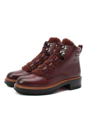 Женские кожаные ботинки SANTONI фиолетового цвета, арт. WTWW58814SQ0ANYBB64 | Фото 1