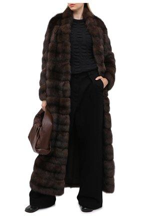 Женская шуба из меха соболя MANZONI24 темно-коричневого цвета, арт. 20M816-Z/38-46   Фото 2