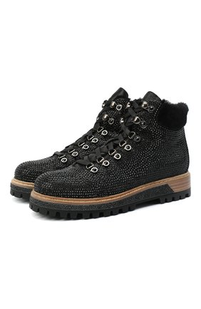 Женские кожаные ботинки LE SILLA черного цвета, арт. 7510M040M1MMBUR | Фото 1