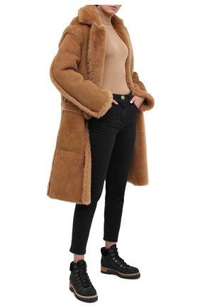 Женские кожаные ботинки LE SILLA черного цвета, арт. 7510M040M1MMBUR | Фото 2