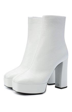 Женские кожаные ботильоны GIUSEPPE ZANOTTI DESIGN белого цвета, арт. I070012/003 | Фото 1