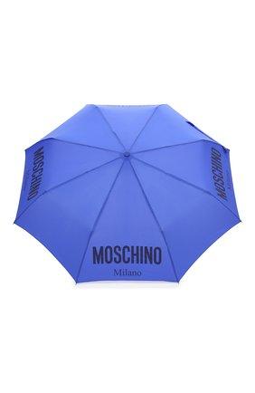 Женский складной зонт MOSCHINO голубого цвета, арт. 8021-0PENCL0SE   Фото 1