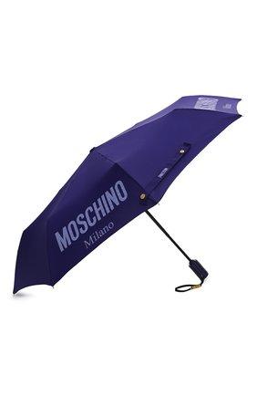 Женский складной зонт MOSCHINO синего цвета, арт. 8021-0PENCL0SE   Фото 2