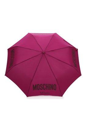 Женский складной зонт MOSCHINO бордового цвета, арт. 8021-0PENCL0SE   Фото 1 (Материал: Текстиль, Металл, Синтетический материал)