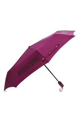 Женский складной зонт MOSCHINO бордового цвета, арт. 8021-0PENCL0SE   Фото 2 (Материал: Текстиль, Металл, Синтетический материал)