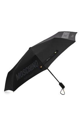 Женский складной зонт MOSCHINO черного цвета, арт. 8021-0PENCL0SE   Фото 2