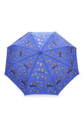 Женский складной зонт MOSCHINO голубого цвета, арт. 8045-0PENCL0SE   Фото 1 (Материал: Металл, Текстиль)