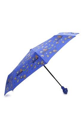 Женский складной зонт MOSCHINO голубого цвета, арт. 8045-0PENCL0SE   Фото 2 (Материал: Металл, Текстиль)