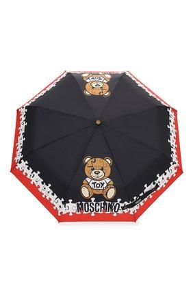 Женский складной зонт MOSCHINO черного цвета, арт. 8046-0PENCL0SE   Фото 1