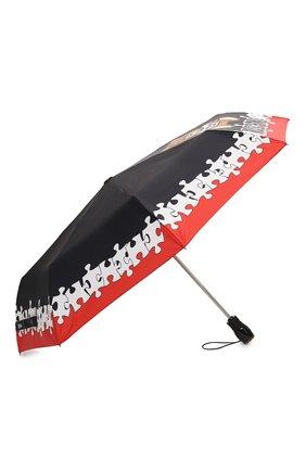 Женский складной зонт MOSCHINO черного цвета, арт. 8046-0PENCL0SE   Фото 2