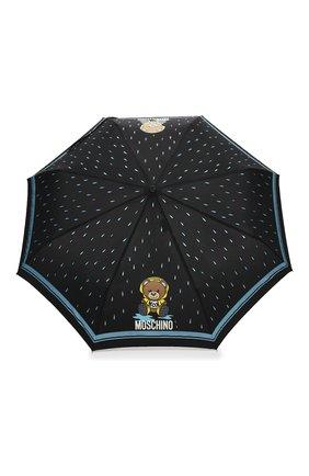 Женский складной зонт MOSCHINO черного цвета, арт. 8058-0PENCL0SE   Фото 1