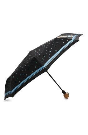 Женский складной зонт MOSCHINO черного цвета, арт. 8058-0PENCL0SE   Фото 2