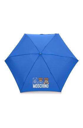 Женский складной зонт MOSCHINO синего цвета, арт. 8061-SUPERMINI   Фото 1 (Материал: Текстиль, Металл)
