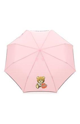 Женский складной зонт MOSCHINO розового цвета, арт. 8080-0PENCL0SE | Фото 1