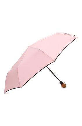 Женский складной зонт MOSCHINO розового цвета, арт. 8080-0PENCL0SE | Фото 2