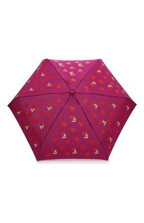 Женский складной зонт MOSCHINO бордового цвета, арт. 8127-SUPERMINI   Фото 1 (Материал: Текстиль, Металл, Синтетический материал)