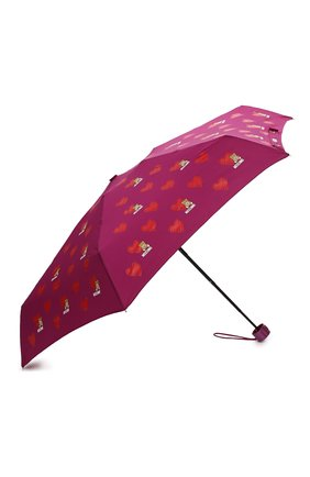 Женский складной зонт MOSCHINO бордового цвета, арт. 8127-SUPERMINI   Фото 2 (Материал: Текстиль, Металл, Синтетический материал)