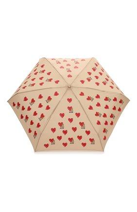Женский складной зонт MOSCHINO бежевого цвета, арт. 8127-SUPERMINI | Фото 1