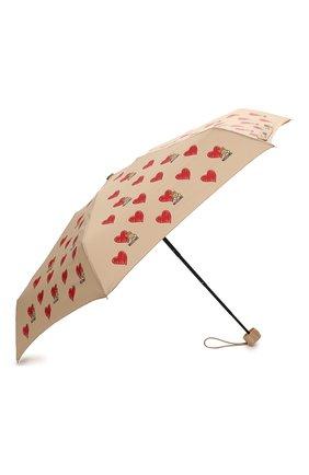 Женский складной зонт MOSCHINO бежевого цвета, арт. 8127-SUPERMINI | Фото 2