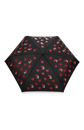Женский складной зонт MOSCHINO черного цвета, арт. 8127-SUPERMINI | Фото 1