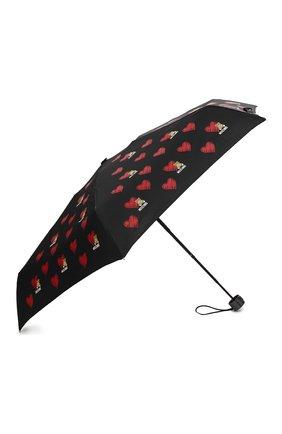 Женский складной зонт MOSCHINO черного цвета, арт. 8127-SUPERMINI | Фото 2