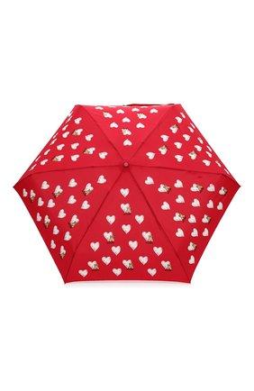 Женский складной зонт MOSCHINO красного цвета, арт. 8127-SUPERMINI | Фото 1