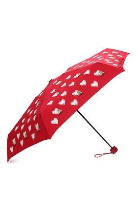 Женский складной зонт MOSCHINO красного цвета, арт. 8127-SUPERMINI | Фото 2