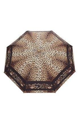 Женский складной зонт MOSCHINO леопардового цвета, арт. 8138-0PENCL0SE | Фото 1