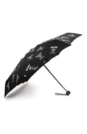 Женский складной зонт MOSCHINO черного цвета, арт. 8560-SUPERMINI | Фото 2