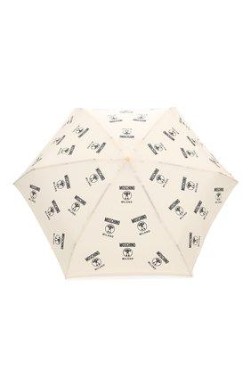 Женский складной зонт MOSCHINO кремвого цвета, арт. 8560-SUPERMINI | Фото 1