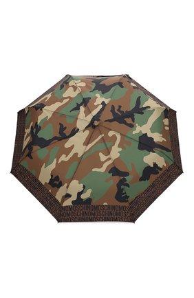 Женский складной зонт MOSCHINO хаки цвета, арт. 8595-0PENCL0SE | Фото 1