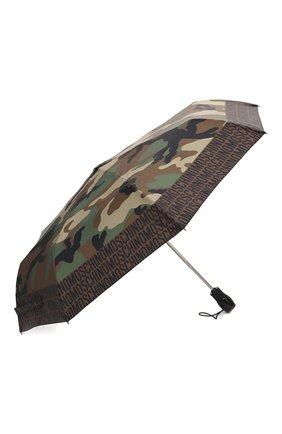 Женский складной зонт MOSCHINO хаки цвета, арт. 8595-0PENCL0SE | Фото 2