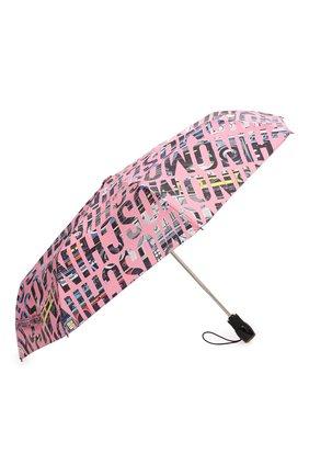 Женский складной зонт MOSCHINO розового цвета, арт. 8600-0PENCL0SE | Фото 2