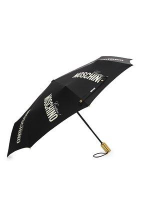 Женский складной зонт MOSCHINO черного цвета, арт. 8730-0PENCL0SE | Фото 2