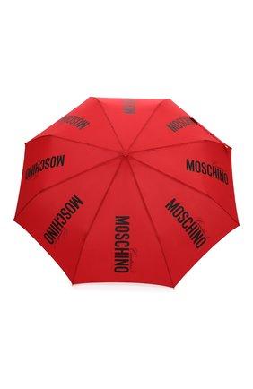 Женский складной зонт MOSCHINO красного цвета, арт. 8730-0PENCL0SE | Фото 1