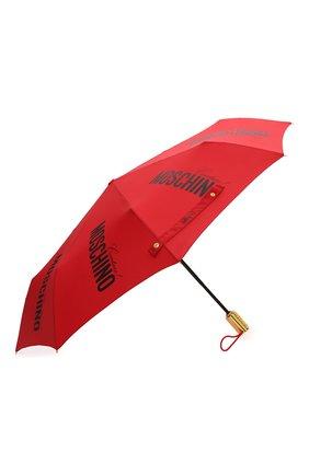 Женский складной зонт MOSCHINO красного цвета, арт. 8730-0PENCL0SE | Фото 2