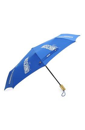 Женский складной зонт MOSCHINO синего цвета, арт. 8730-0PENCL0SE | Фото 2