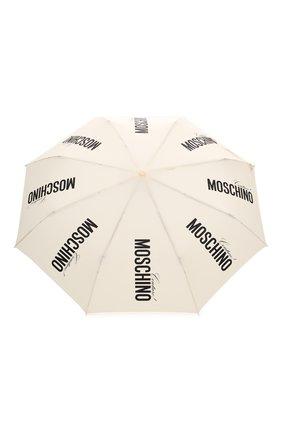 Женский складной зонт MOSCHINO кремвого цвета, арт. 8730-0PENCL0SE | Фото 1