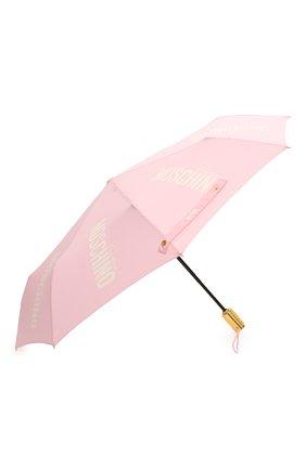 Женский складной зонт MOSCHINO розового цвета, арт. 8730-0PENCL0SE | Фото 2