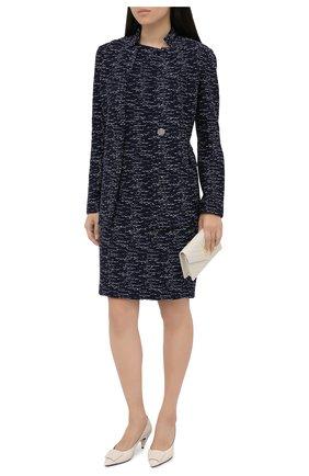 Женское платье из шерсти и вискозы ST. JOHN темно-синего цвета, арт. K1100C2 | Фото 2