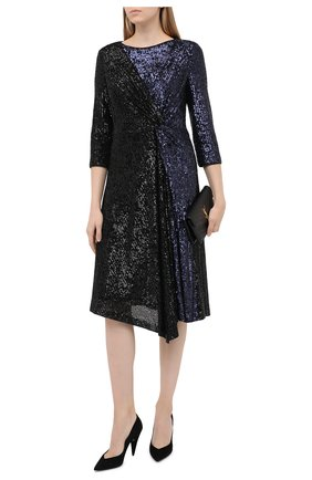 Женское платье с пайетками ST. JOHN черного цвета, арт. K120WL1   Фото 2