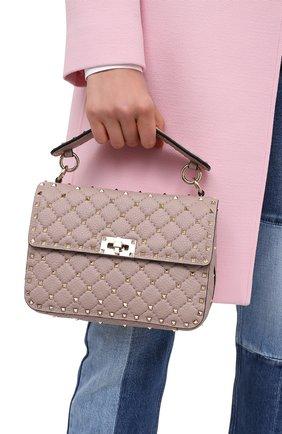 Женская сумка valentino garavani rockstud spike VALENTINO бежевого цвета, арт. UW2B0H58/AVB | Фото 2